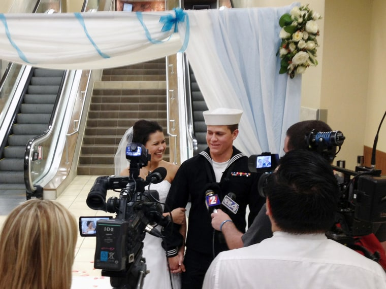U.S. Navy seaman Dylan Ruffer and his fiancee, Madison Meinhardt