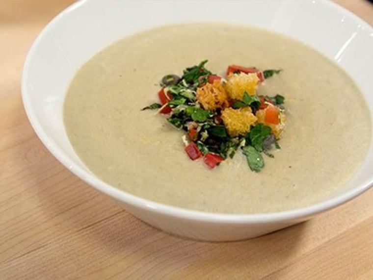 Giada De Laurentiis makes stuffed artichoke soup