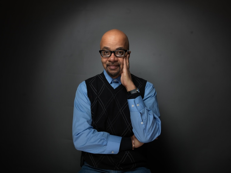 Author and filmmaker James McBride poses for a portrait during the 2012 Sundance Film Festival in Park City, Utah.