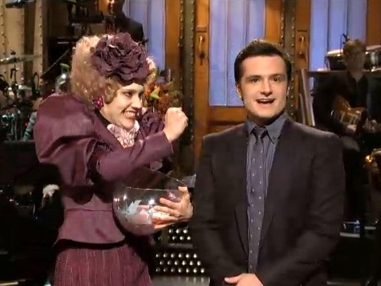 "Kate McKinnon, Josh Hutcherson on ""Saturday Night Live."""