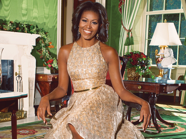 Michelle Obama talked about the first family's holiday traditions in the latest issue of Ladies Home Journal.