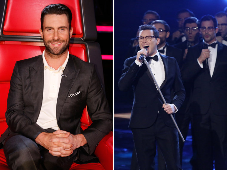 Image: Adam Levine, James Wolpert  on The Voice.