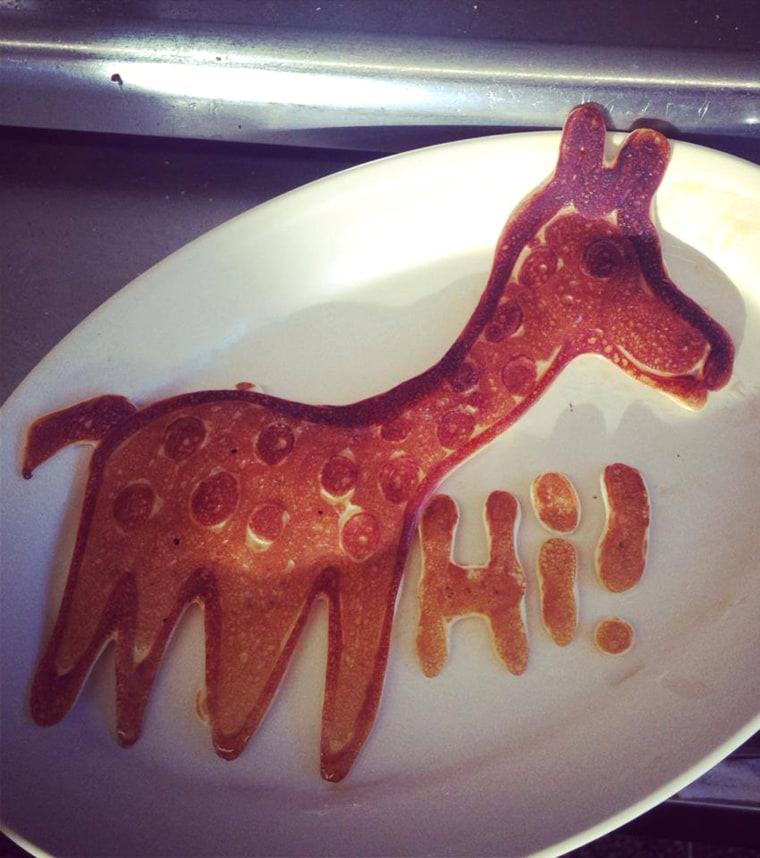 Made this one for a little girl yesterday. They thought it was awesome. It made me feel awesome. Now, let this giraffe make your day a little more awesome.