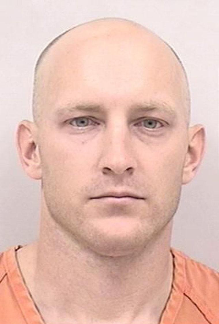 This booking photo released by the Colorado Springs Police Department shows Army 1st Lt. Aaron G. Lucas, of Alabama.