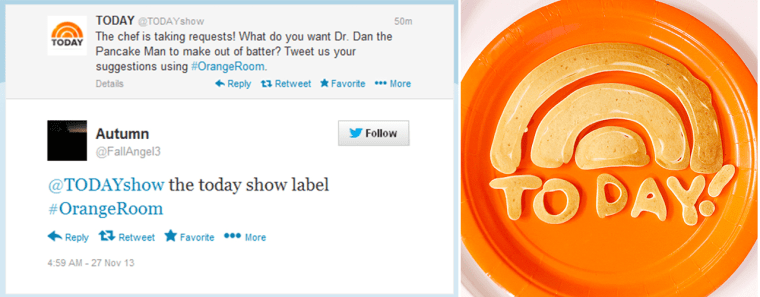 Dan the Pancake Man created the TODAY show design.