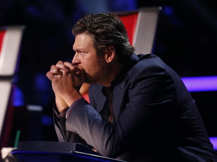 Image: Blake Shelton on The Voice.
