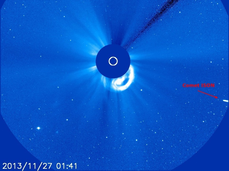 Image: ISON and SOHO