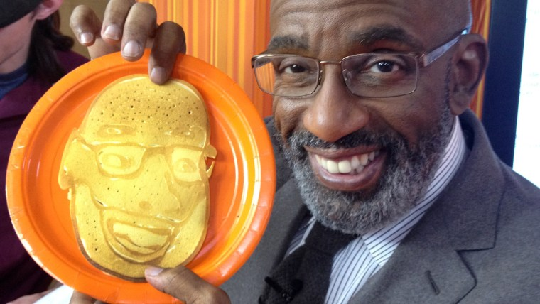 Al Roker with his pancake face.