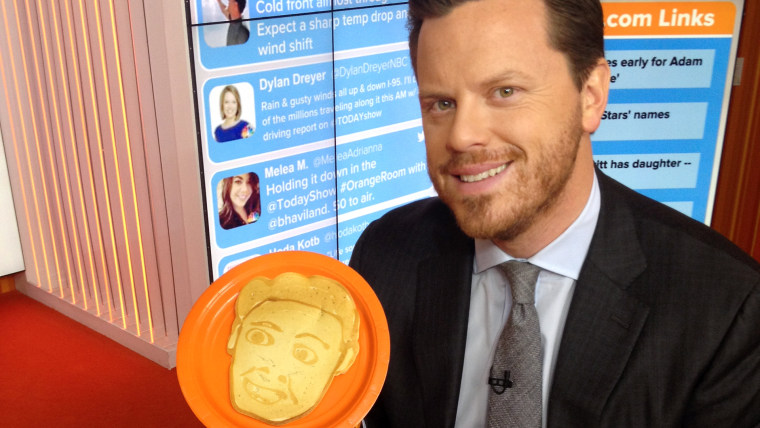 Willie Geist Dan the Pancake Man's creation of him.