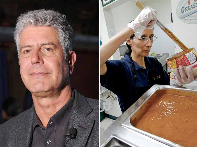 "Anthony Bourdain got New Mexico residents all fired up when he referred to a Frito Pie served in Santa Fe as a ""colostomy pie."""
