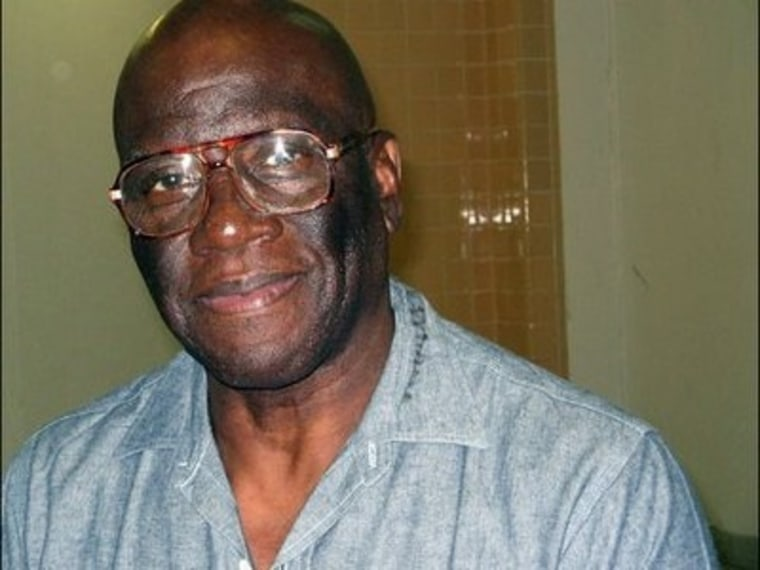 Herman Wallace at the Louisiana State Penitentiary in Angola in an undated photo. He was confined to solitary confinement for more than 40 years, after he and two others inmates were convicted of the murder of a prison guard in 1972.