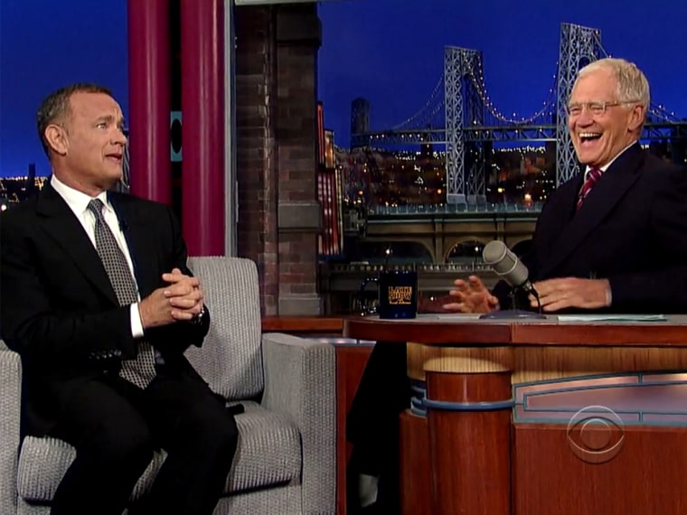 "Tom Hanks on ""The Late Show with David Letterman."""