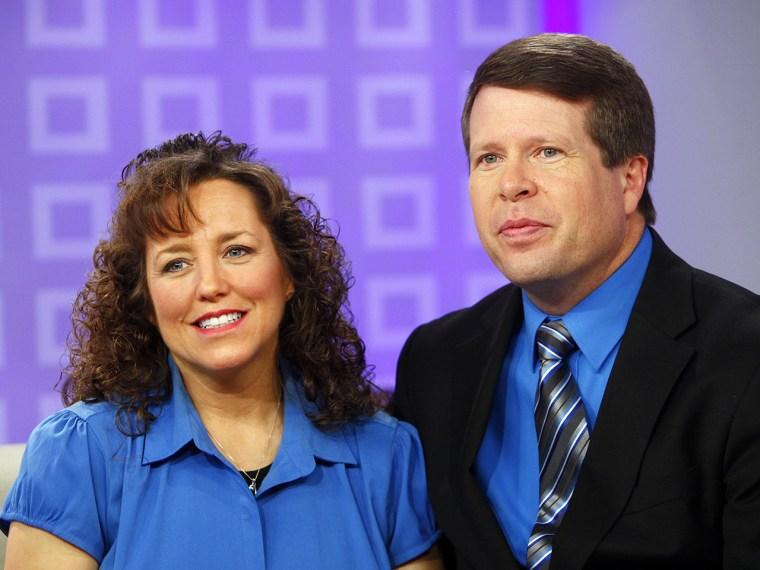 "IMAGE: Michelle Duggar and Jim Bob Duggar appear on NBC News' \""Today\"" show -- Photo by: Peter Kramer/NBC/NBC NewsWire"