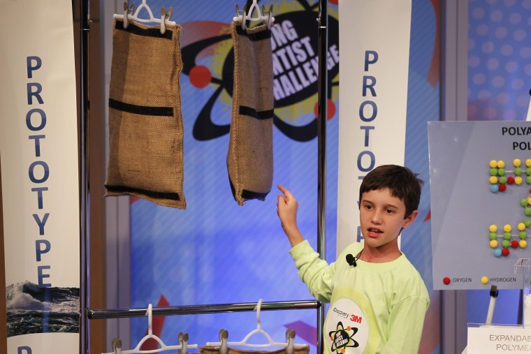 11-year-old designs a better sandbag, named 'America's Top Young Scientist'