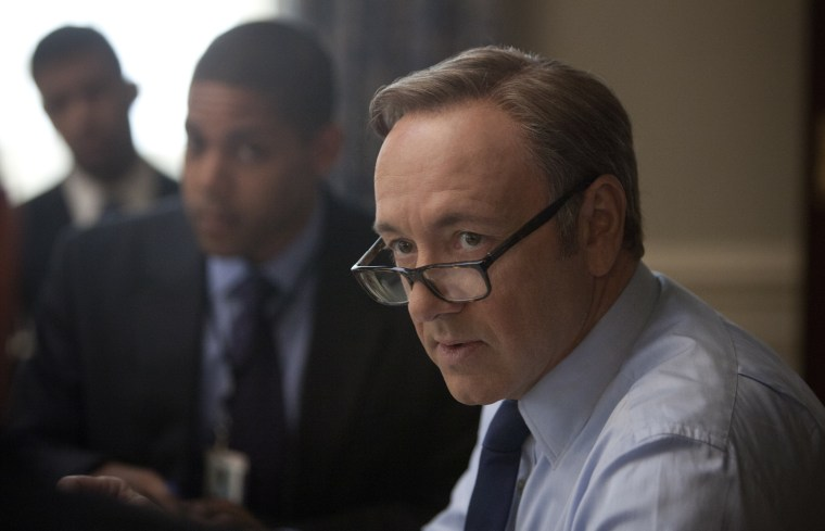 "Kevin Spacey plays Congressman Francis Underwood in Netflix's Emmy-nominated ""House of Cards."""