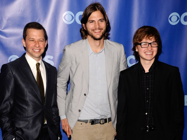 IMAGE: Jon Cryer, Ashton Kutcher and Angus T. Jones