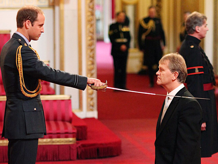 Prince William grants knighthood for the first time