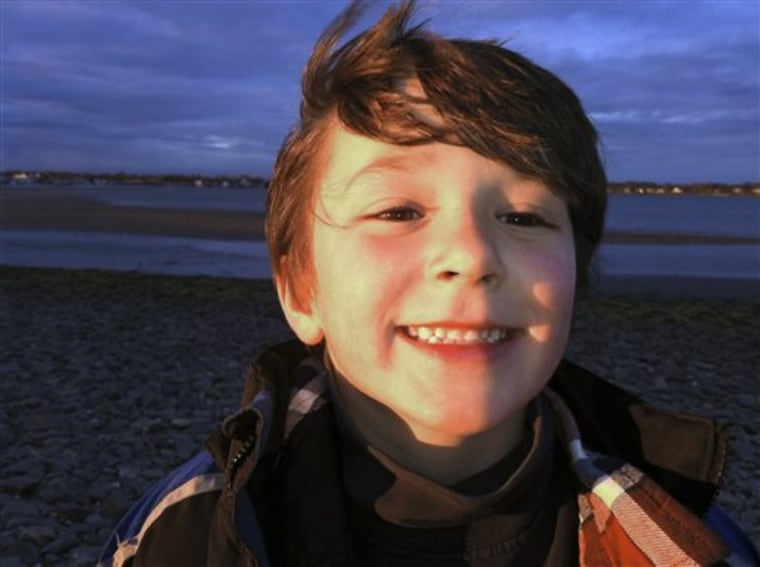 This autumn 2011 photo provided by the Jesse Lewis Choose Love Foundation shows Jesse Lewis, who was killed in the shooting at Sandy Hook Elementary School on Dec. 14, 2012, in Newtown, Conn.