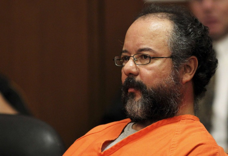 Ariel Castro, 53, sits in the courtroom during his sentencing for kidnapping, rape and murder in Cleveland, Ohio on Aug. 1.