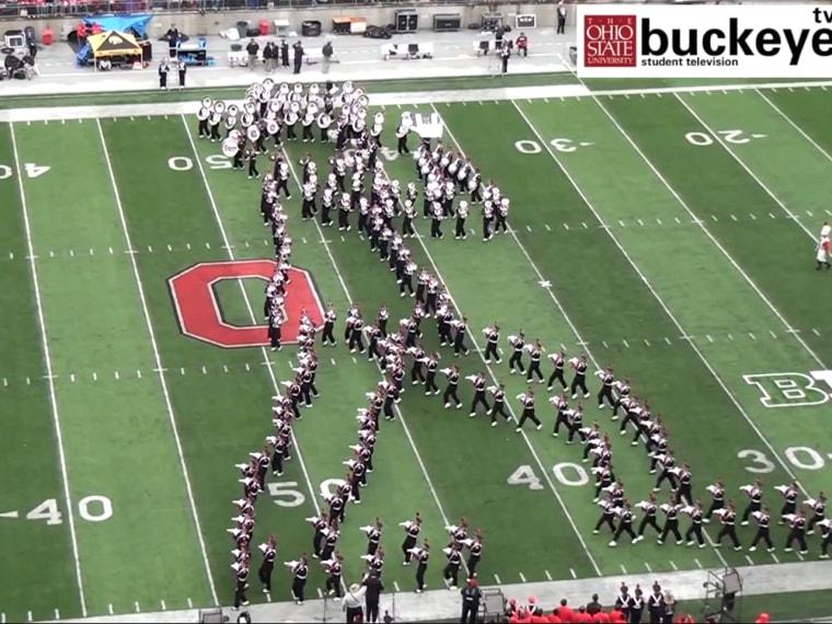 Ohio State University Marching Band.