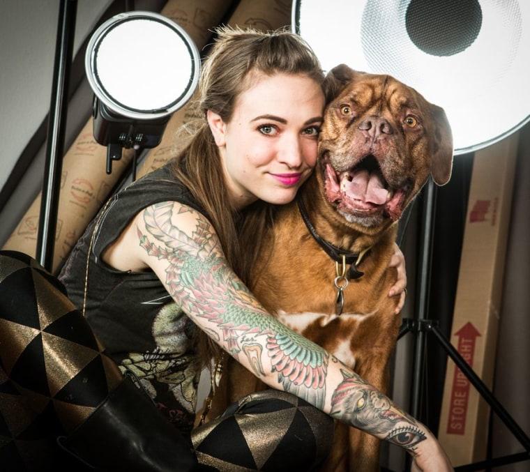 carli davidson with dog