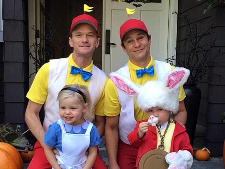 Image: Neil Patrick Harris, David Burtka and kids Gideon and Harper.