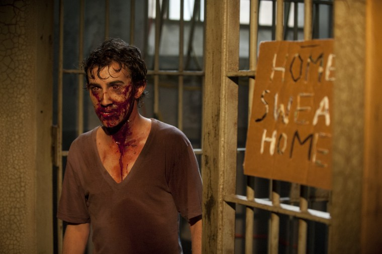 "Vincent Martella plays a zombie on ""The Walking Dead."""