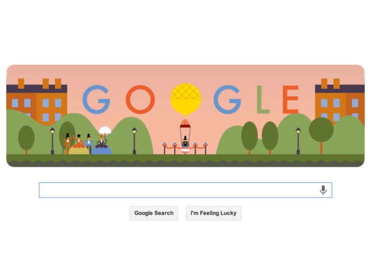 Google's Oct. 22 Doodle celebrates the first parachute jump, 216 years ago.