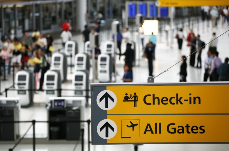The ticketing and check-in area is shown at JetBlue Airways' Terminal 5 at John F. Kennedy International Airport on Saturday, Aug. 23, 2008, in New York.