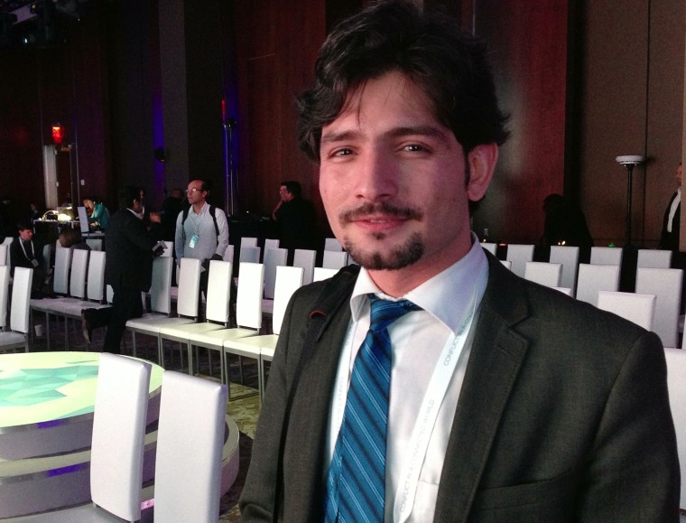Dlshad Othman, a Syrian Kurd living in Washington, D.C., developed an online monitoring program that warns Syrian civilians of purported government missile attacks. He participated in a conference held by Google during the week of Oct. 21, in New York.