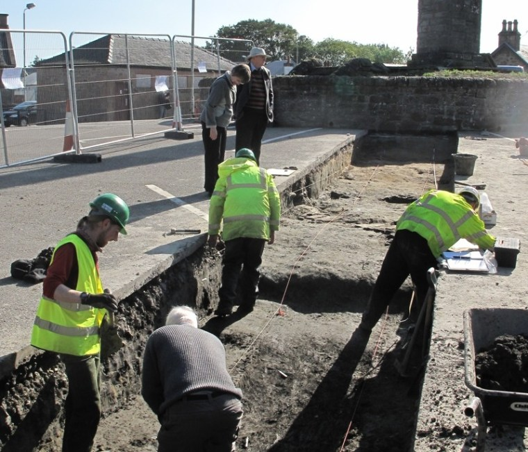 Viking 'Thing' excavated beneath parking lot in Scotland