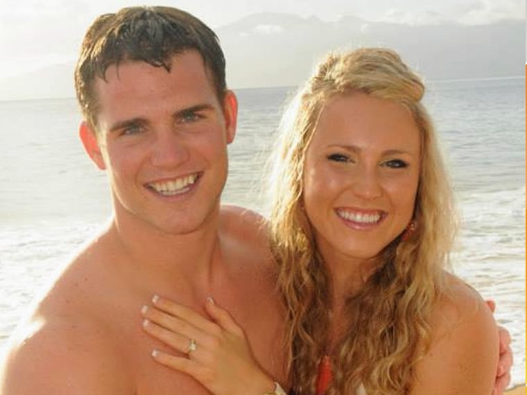 McDaniel and his fiance, Stephanie. Luckily, she thinks the whole thing is a riot.