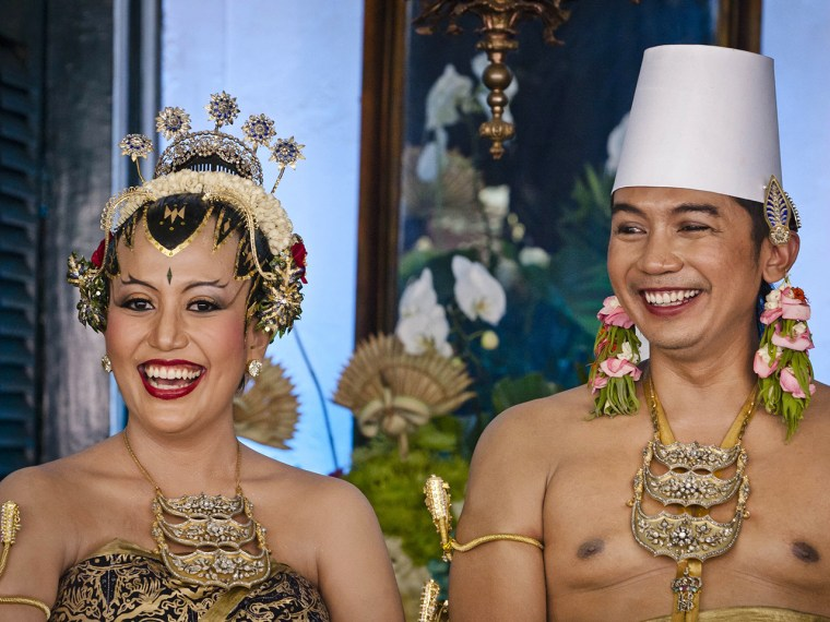 Princess Gusti Kanjeng Ratu Hayu and her groom, KPH Notonegoro