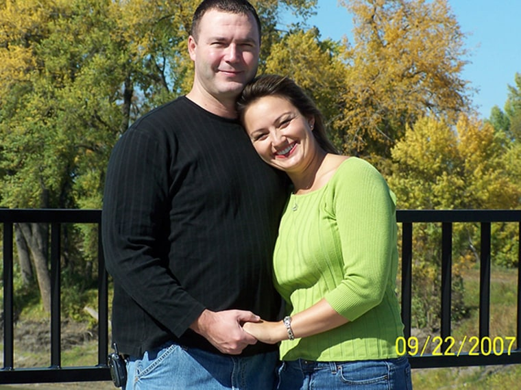Joel Lovelien, with fiance Heather Eastling. Lovelien was beaten by an unknown assailant in the parking lot of a Grand Forks, N.D. bar on Oct. 27, 2007. He was pronounced dead at a local hospital.