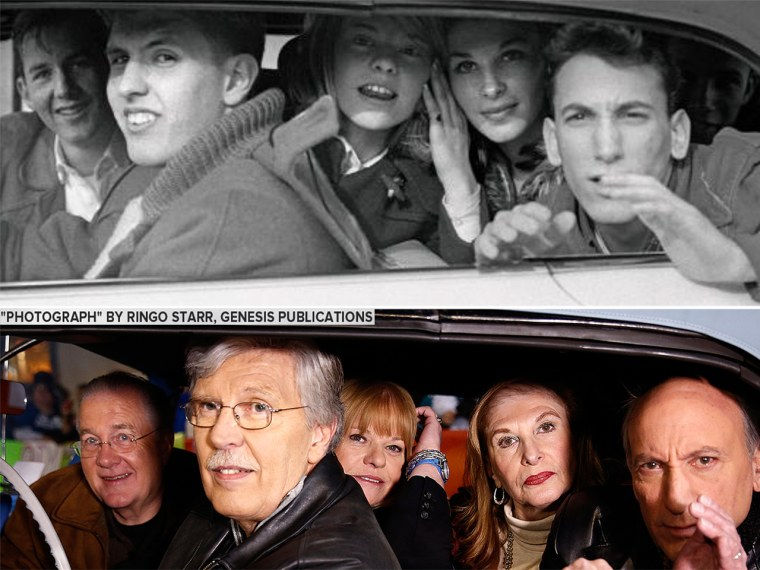 TODAY re-created Ringo Starr's photo of a carload of teens from 1964 when the gang visited the plaza.