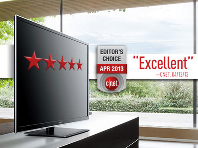 Panasonic's ST60 plasma, shown here on the company's website, won a five-star rating from CNet. Panasonic will be ending plasma manufacturing in December.