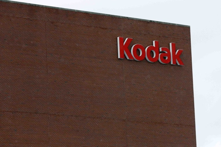 The Kodak logo is seen at the now mostly unused Kodak factory in Rochester, New York in this January 1, 2013 file photo.
