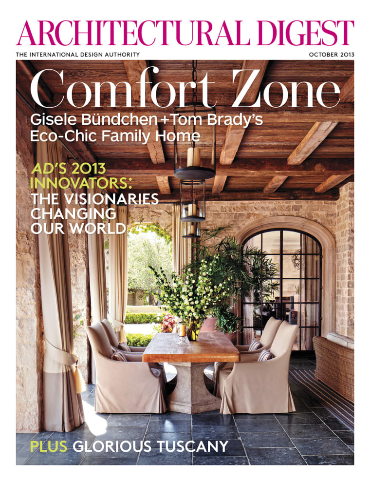 Tom Brady, Gisele show off home in Architectural Digest