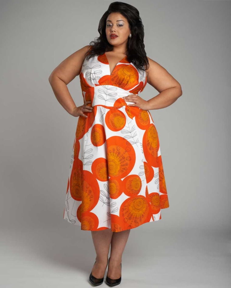 Miller said her pieces are known for their fabrics and bold prints.