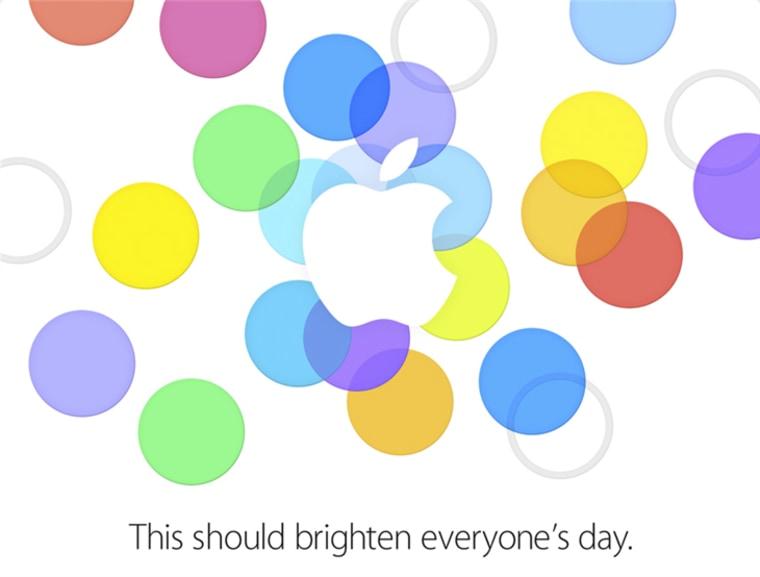 Apple's Sept. 10, 2013 press invite.
