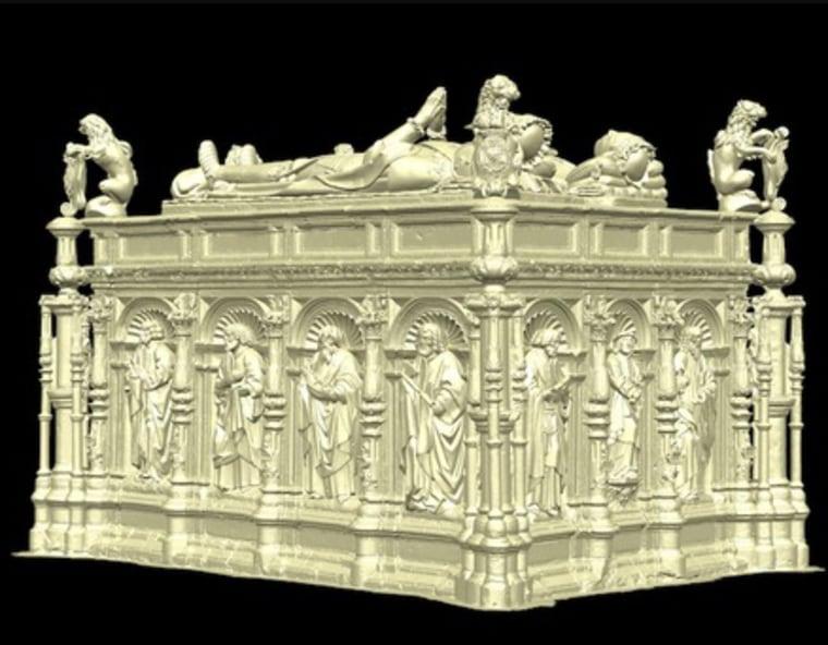 Tudor-era tombs reconfigured using 3-D
