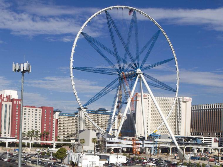 World's newest largest Ferris wheel goes up on Vegas strip