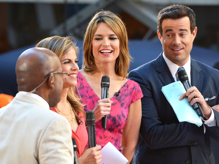 Al Roker, Natalie Morales, Savannah Guthrie and Carson Daly host TODAY.