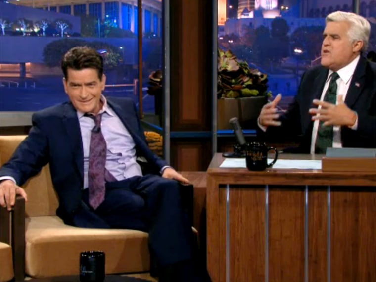 Charlie Sheen and Jay Leno