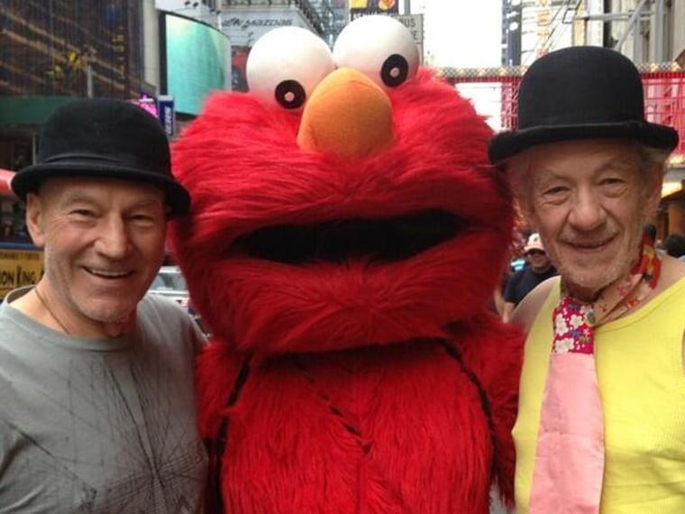 Patrick Stewart, Elmo, Ian McKellen