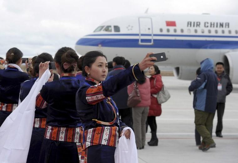Tibetan airport