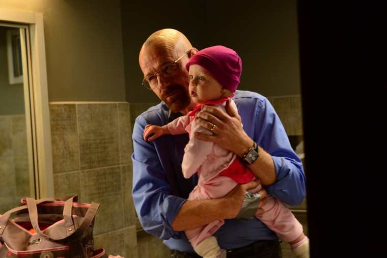 Walter White (Bryan Cranston) and Holly in Sunday night's episode.
