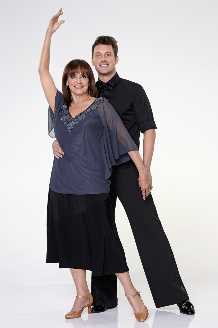 """Image: Valerie Harper with \""""Dancing With the Stars\"""" pro Tristan Macmanus."""