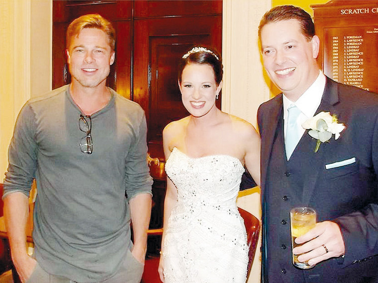 Image: Brad Pitt and newlyweds
