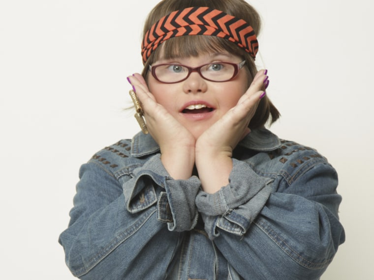 Karrie Brown, teen model for Wet Seal with Down Syndrome.